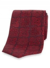 Medallion Silk Tie – RED